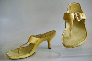 ME TOO Chartreuse Thong Sandal Heel Slide~NEW!  7 M