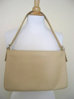 COACH Ecru Sand Beige Leather Slim Handbag Purse 9407~NEW!
