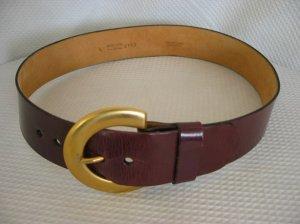 ANNE KLEIN Reddish Brown Leather Belt L