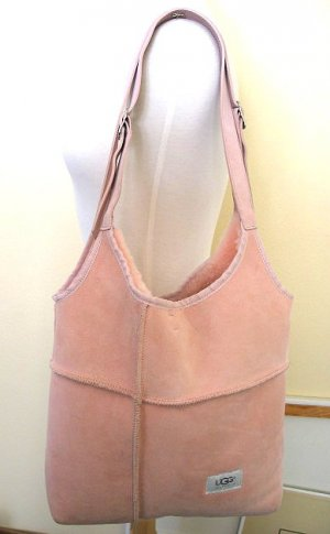 UGG Pink Sheepskin Shearling Bag~NEW!