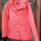 Lands End Ladies Quilted Parka Bright Peach NWOT