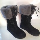 AUTH UGG Australia MONTCLAIR Lace Up Sheepskin Cuff Boots 7 NWOB NEW!