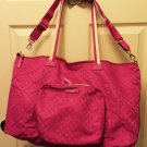 Kate Spade Roma Bon Voyage Snapdragon Pink Packable Travel Duffel Bag NWT $255