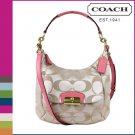 Coach Kristin Signature Rose Pink Hobo Crossbody Bag NEW!