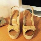 Kate Spade Lexi Biscuit Patent Espadrilles Heels 7.5 M NEW