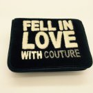 """Juicy Couture Black Velvet Mini Wallet New """"Fell In Love With Couture"""""""