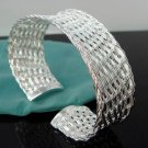 FREE P&P! 925 STERLING SILVER INTERTEXTURE BANGLE #26