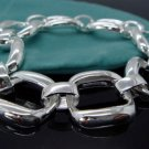 FREE P&P! 925 STERLING SILVER SQUARE Bracelet#50