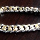 FREE P&P!925 STERLING SILVER & GOLDEN 10mm Bracelet#163