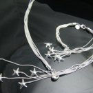 FREE P&P!925 SILVER STARFISH BRACELET & NECKLACE #S116