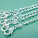 "FREE P&P! 925 sterling bead chain,20""H19 5PCS"
