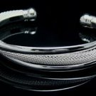FREE P&P! 925 STERLING SILVER WINDING BANGLE #16