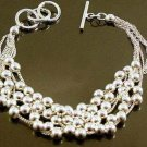 FREE P&P!925 STERLING SILVER BEAD Bracelet #158