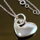 FREE P&P! 925 STERLING SILVER HEART NECKLACE #76
