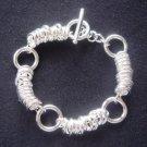 FREE P&P! 925 Sterling Silver Cute Circle Bracelet#171