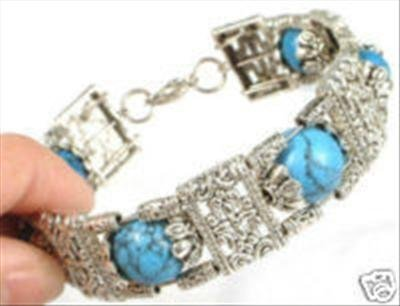 Tribe Jewelry Tibet Silver & Turquoise Bracelet