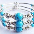 charming Tibet silver Turquoise Bracelet free shippiing