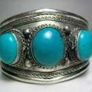 Tribal Tibet Silver Turquoise Cuff Bracelet bangle