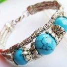 Stunning Tibet 925 Silver Turquoise Bracelet