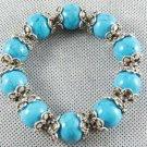 Gorgeous Tibet Silver inlay turquoise Bracelet (SZ
