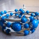Genuine Tibet silver Turquoise Handmade Bracelet (SZ)