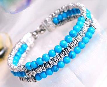beautiful Tibet Silver Turquoise Bracelet