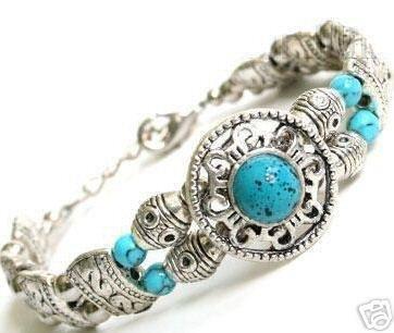Lovely Tibet Jewelry Silver &Turquoise Bracelet