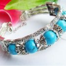 CHINESE TIBET SILVER TURQUOISE BRACELET