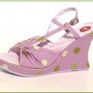 Lavendar Platform Slingback Wedge Sandals Size  8.5