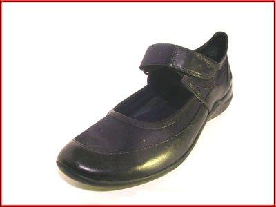 NINE WEST Black Leather & Textile FLATS Sz 7.5