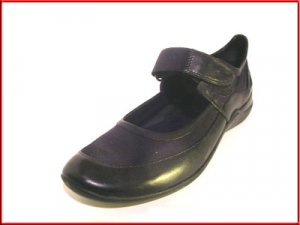 NINE WEST Black Leather & Textile FLATS Sz 7.5
