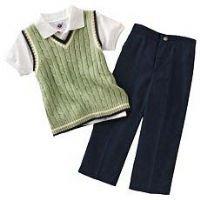 Cable-Knit Sweater-Vest Suit Set