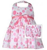 Bonnie Jean Pink Bubble Halter Dress