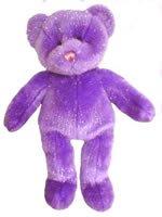 """15"""" Purple Glitter Bear"""