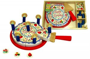 Classic Wooden Birthday Party Cake Toy Set
