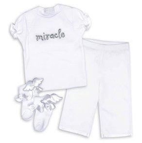 Mud Pie Angel Bebe Miracle Clothing Set 0-6M