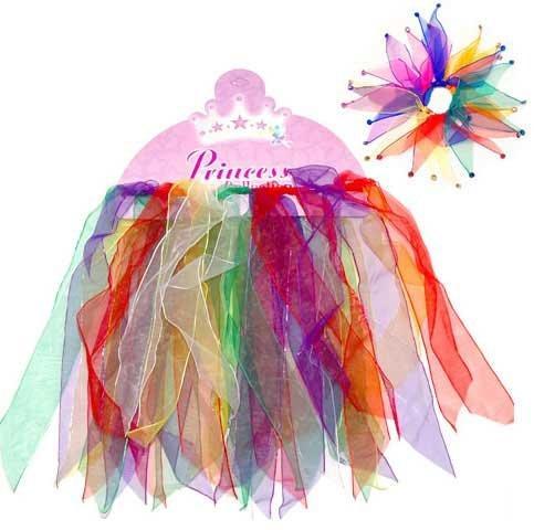 Rainbow Princess Tutu & Matching Scrunchie