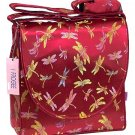 IFD08 - Dark Red Dragonfly - 'I Frogee' Boxy Diaper Bags