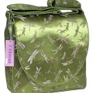 IFD22 - Olive Green Dragonfly - 'I Frogee' Boxy Diaper Bags