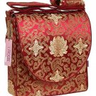 IFD24 - Dark Red Fortune Flower - 'I Frogee' Boxy Diaper Bags