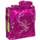 IFD36 - Hot Pink/Silver Cherry Blossom - I Frogee Brocade Diaper Bags