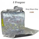 IFD42 - Silver Butterfly - I Frogee Brocade Diaper Bags