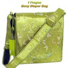 IFD43 - YellowGreen Butterfly - I Frogee Brocade Diaper Bags