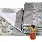 Silver Butterfly - I Frogee Brocade Baby Blankets