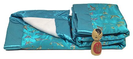 SkyBlue Butterfly - I Frogee Brocade Baby Blankets