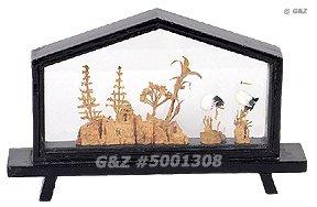 5001308 - Mini House-Shape Cork Art