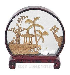 5401010 - Mini Garden View - Chinese Cork Art