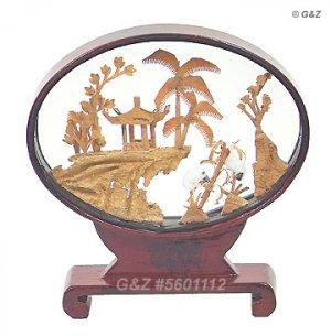 5601112 - Mini Garden View - Chinese Cork Sculptures