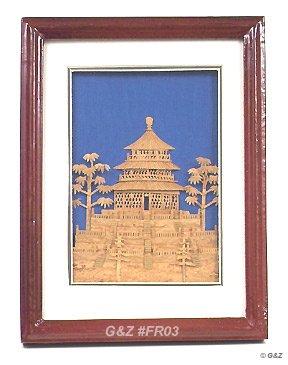 FR03 - Tabletop Framed Cork Art 'Temple of Heaven'