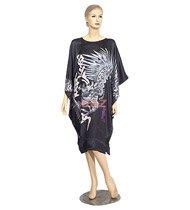 BT02 - Black Silk Big-T Gown(Dragon Caftan) For Women